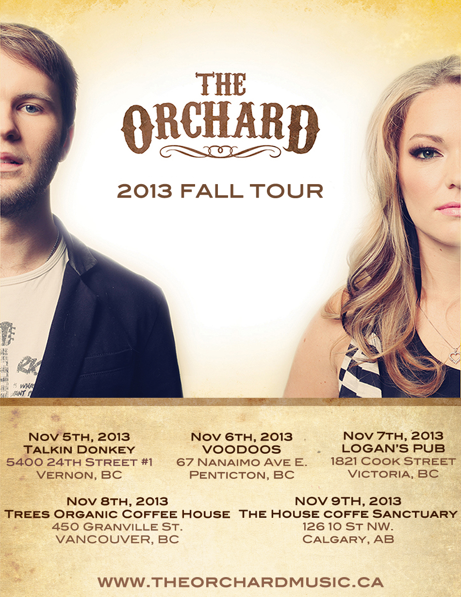 THE ORCHARD ENTIRE TOUR POSTER